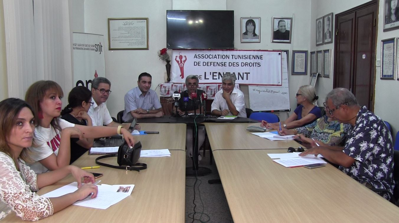 المؤتمر الصحفي دق ناقوس الخطر لما يتعرض له الطفل في تونس ووجوب اهتمام المرشحين للرئاسة بقطاع الطفولة