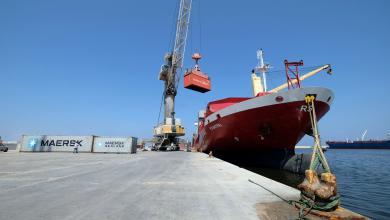 صورة سفن منوعة تصل ميناء بنغازي