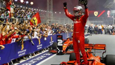Photo of فيتيل يتوج بجائزة سنغافورة للفورمولا 1