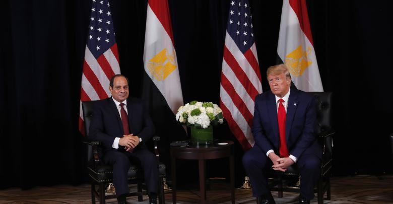 الرئيس الأمريكي، دونالد ترامب، ونظيره المصري عبد الفتاح السيسي