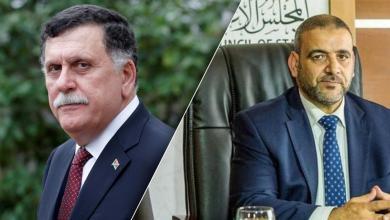 رئيس المجلس الأعلى للدولة خالد المشري ورئيس المجلس الرئاسي فائز السراج