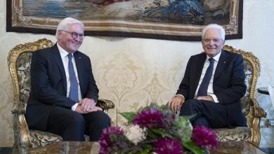 لقاء رئيس جمهورية ألمانيا الاتحادية، فرانك فالتر شتاينماير مع نظيره الإيطالي سيرجو ماتاريلا