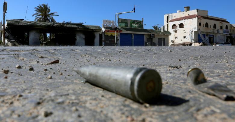 آثار الاشتباكات المسلحة- ليبيا