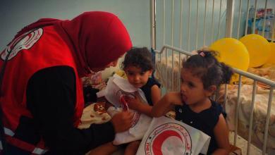 صورة الهلال الأحمر طرابلس يواصل أعماله الإنسانية