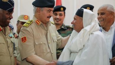 "Photo of حفتر يلتقي وفداً من أعيان ""الرجبان والعربان"""