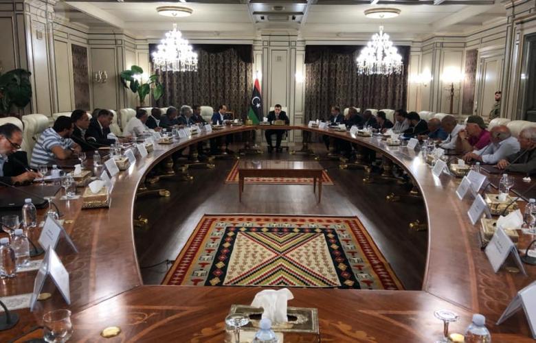 السراج يتلقي فعاليات وقيادات قطاع الشباب والرياضة لبحث الأزمة الليبية الراهنة