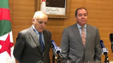 وزير الخارجية الجزائري صابري بوقادوم يستقبل المبعوث الأممي لليبيا غسان سلامة