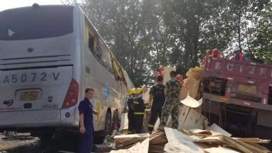 Photo of 36 قتيلاً في الصين إثر اصطدام حافلة بشاحنة