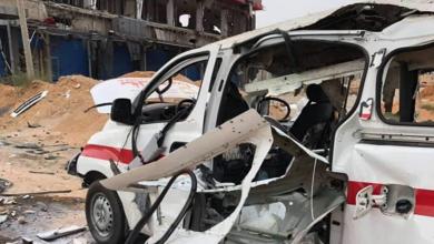 صورة 3 إصابات جراء استهداف سيارة إسعاف بعين زارة
