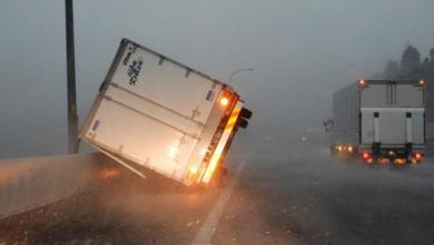 صورة توضح قوة الإعصار- اليابان