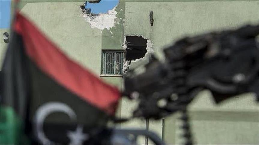 آثار الاشتباكات المسلحة في ليبيا- صورة إرشيفية