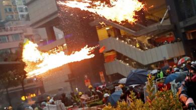 "Photo of ""يوم حزين"" في هونغ كونغ.. إصابة عشرات المحتجين"