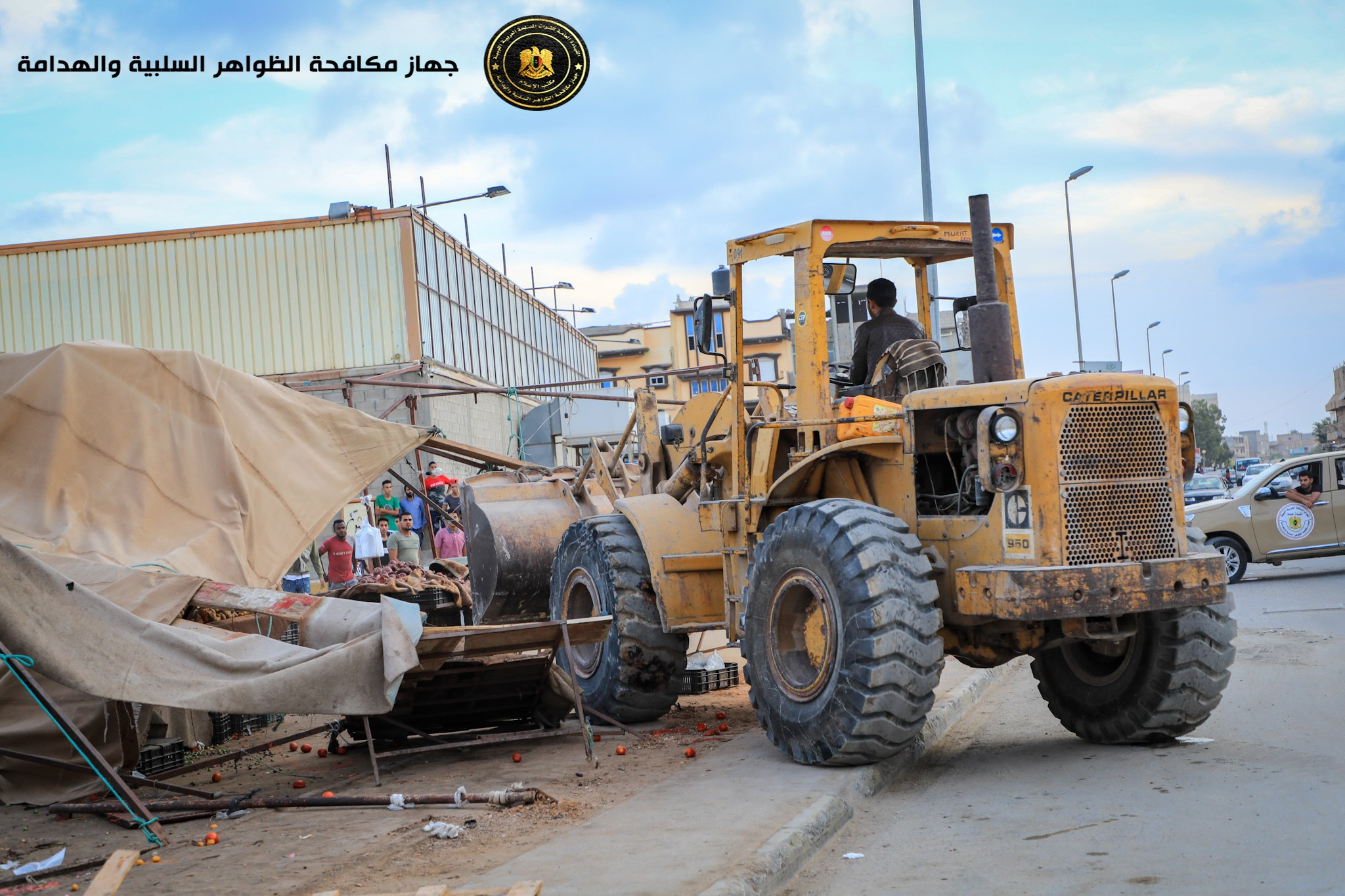 استمرار تنفيذ إزالة عشوائيات بنغازي