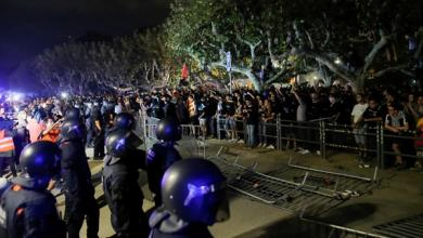 Photo of أعمال عنف في برشلونة ضمن احتجاجات مؤيدة للانفصال