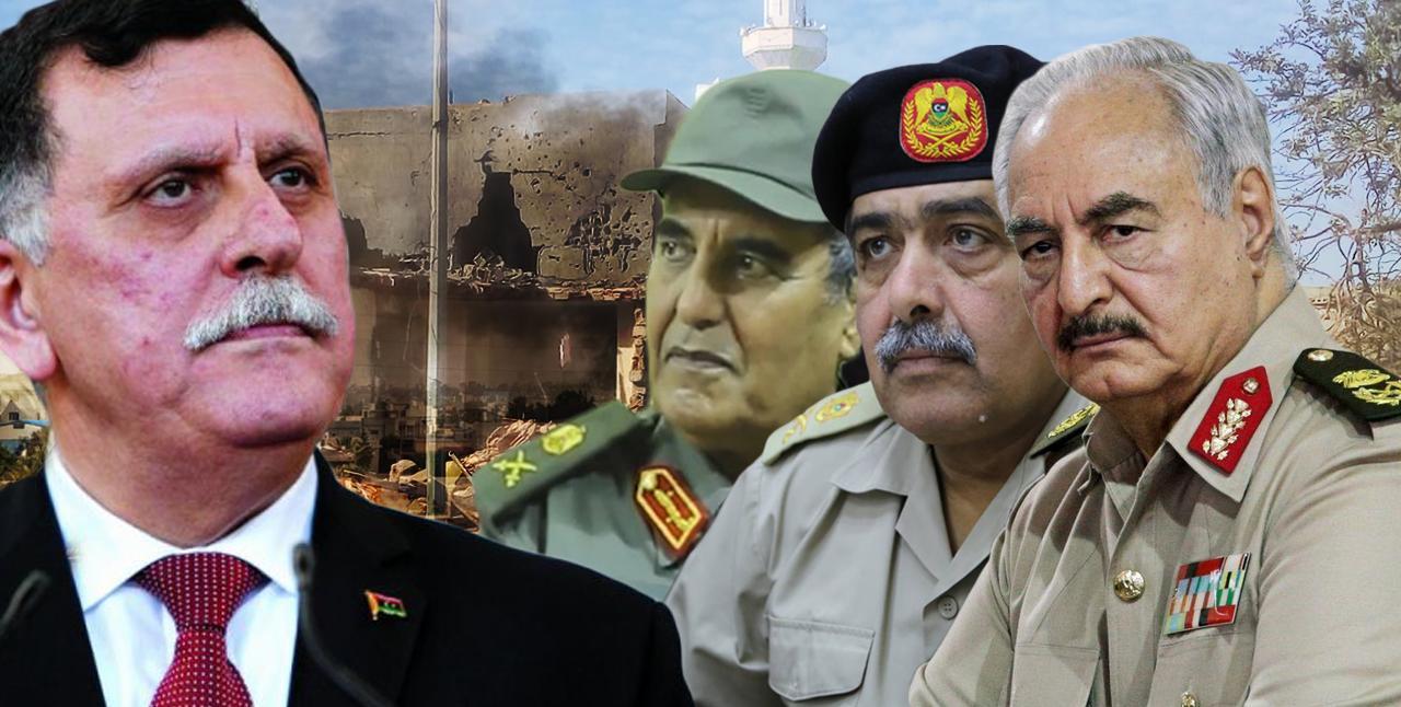 خليفة حفتر - عبدالرازق الناظوري - عون الفرجاني - فائز السراج - اشتباكات طرابلس