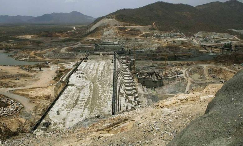 صورة لأعمال بناء سد النهضة الإثيوبي - أرشيفية