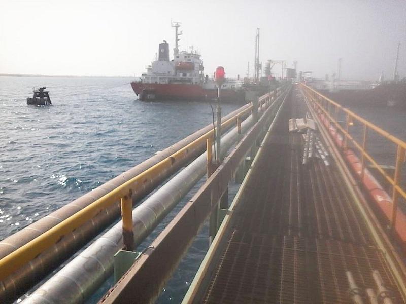 الوطينة للنفط تعلن إيقاف معمل الغاز بميناء الزويتينة لغرض الصيانة
