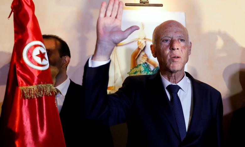 المترشح والفائز في الانتخابات الرئاسية التونسية قيس سعيّد