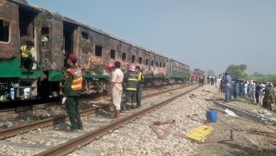 Photo of سقوط قتلى في حريق قطار بالباكستان