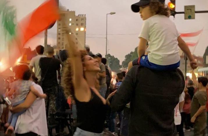 ميريام فارس - مظاهرات لبنان