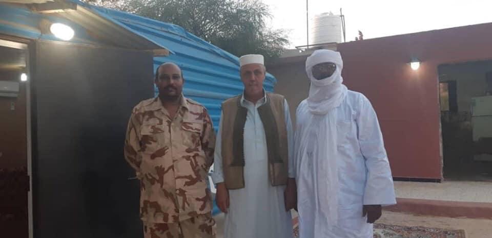 وفد من المجلس الأعلى لتوارق ليبيا يصل ترهونة لتقديم واجب العزاء