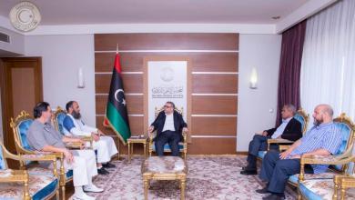 Photo of المشري يناقش مع رئيس مجلس أعيان سوق الجمعة ملف المصالحة الوطنية