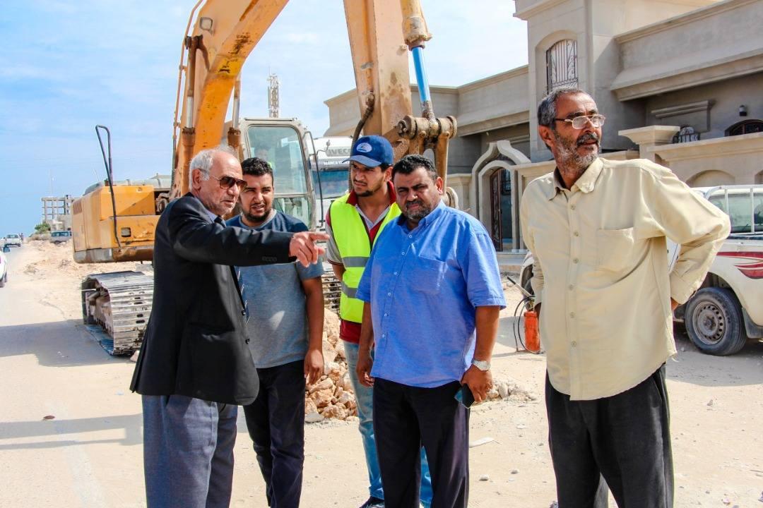 المجلس التسييري طبرق يتابع مشاريع المياه في المدينة
