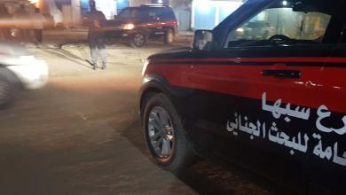 صورة البحث الجنائي سبها يواصل نشر دورياته الأمنية داخل مناطق المدينة
