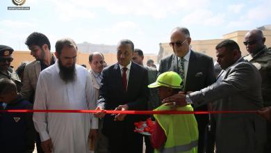 صورة الثني يفتتح مشاريع بمنطقة بالخاثر غرب طبرق (صور)