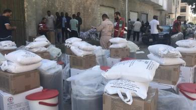Photo of تقديم مساعدات لنازحي مرزق في صبراتة