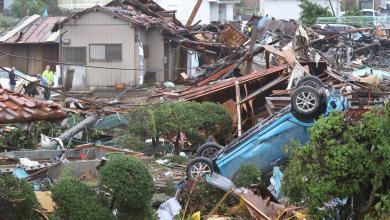 Photo of 5 قتلى وعشرات المفقودين بسبب إعصار هاجيبيس في اليابان