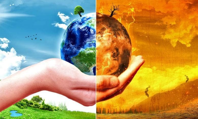 صورة تعبيرية للتغير المناخي لكوكب الأرض