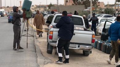 Photo of بنزين على جنبات الطرق في باطن الجبل