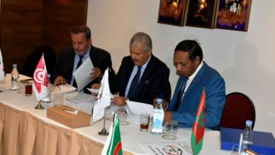 صورة انتخاب الشلماني لرئاسة اتحاد شمال أفريقيا