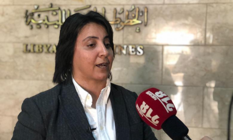 رئيسة اتحاد عمال ليبيا نرمين الشريف