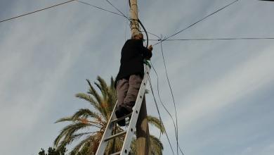 Photo of صيانة عدد من خطوط الهاتف في ترهونة