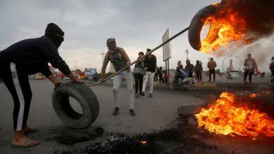Photo of قطع طرق ورصاص ونيران.. العراق يشتعل بتجدد الاحتجاجات