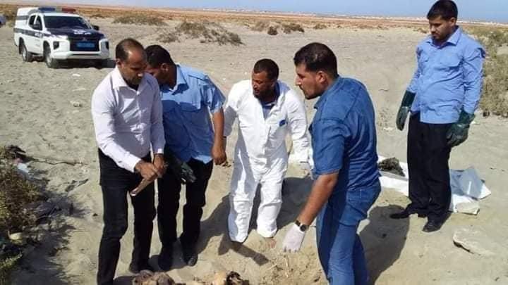 مقبرة جماعية لضحايا داعش في راس لانوف