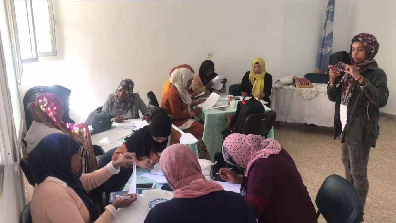 ورشة عمل لنساء تاورغاء في بنغازي لتعزيز المشاركة في العملية الديموقراطية