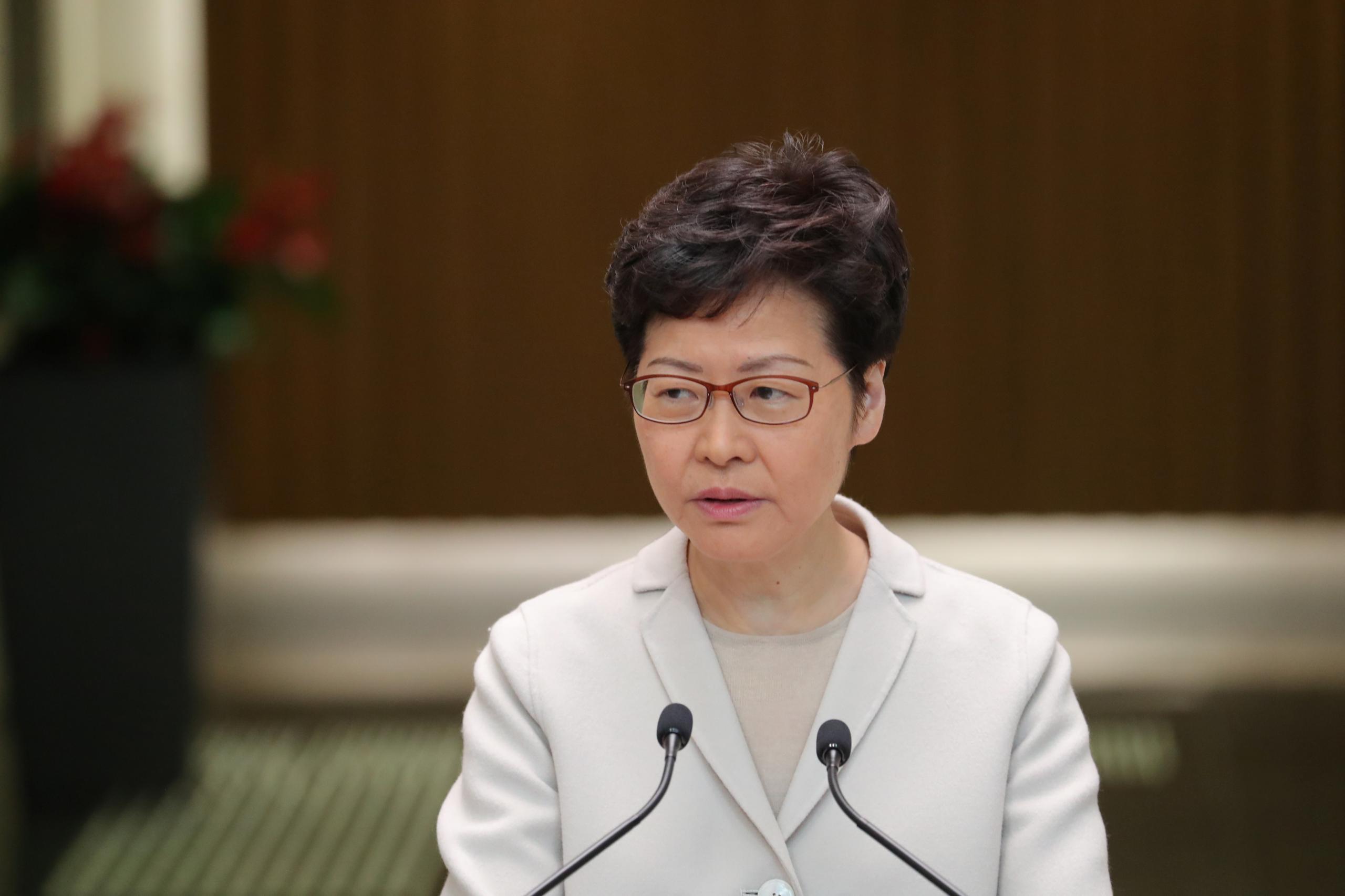 الرئيسة التنفيذية لهونغ كونغ كاري لام
