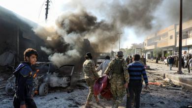 صورة قتلى بانفجار سيارة ملغومة في تل أبيض السورية