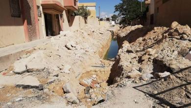 Photo of بلدية أجدابيا تستأنف مشروع تصريف المياه بشارع طريق طرابلس