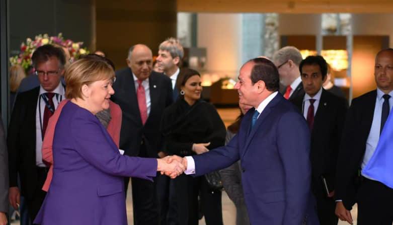 الرئيس المصري عبدالفتاح السيسي والمستشارة الألمانية أنجيلا ميركل