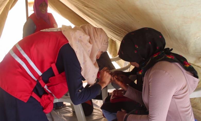 """""""خيمة التوعية"""" فعالية للهلال الأحمر غات للتوعية بمرض السكري وقياس مجاني لحالات عامة"""