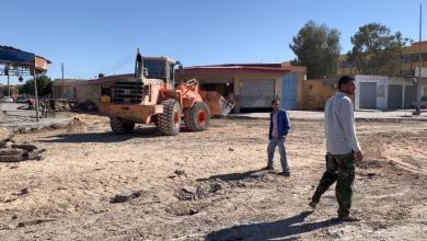 Photo of بني وليد .. أعمال صيانة لتقاطع الدفاع المدني