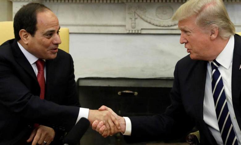 الرئيس الأمريكي دونالد ترامب والرئيس المصري عبدالفتاح السيسي- إرشيفية