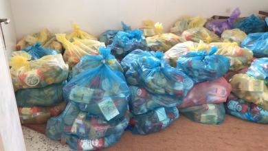 Photo of توزيع مساعدات على الأسر النازحة في باطن الجبل