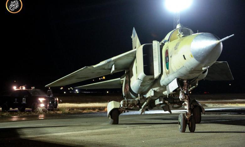 """سلاح الجو الليبي يستهدف مواقع عسكرية في مصراتة - """"أرشيفية"""""""