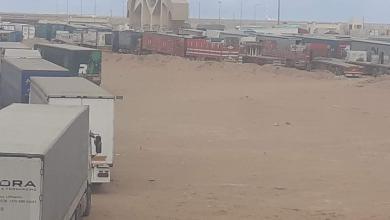 Photo of تكدس الشاحنات الليبية في منفذ امساعد