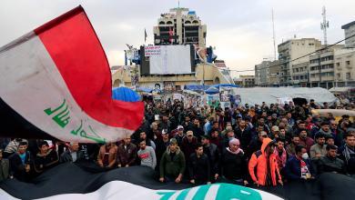 """صورة المتظاهرون في العراق يلجؤون لسلاح """"إغلاق الحقول"""""""